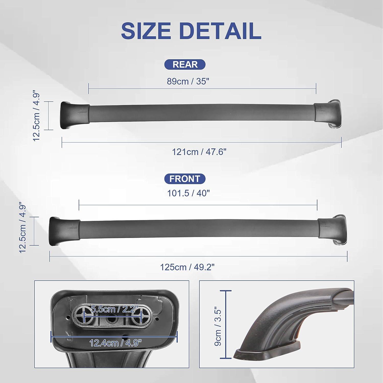 MOSTPLUS New Roof Rack Cross Bar for Toyota Highlander 2014 2015 2016 2017 2018 2019 Only fit XLE /& Limited /& SE Models