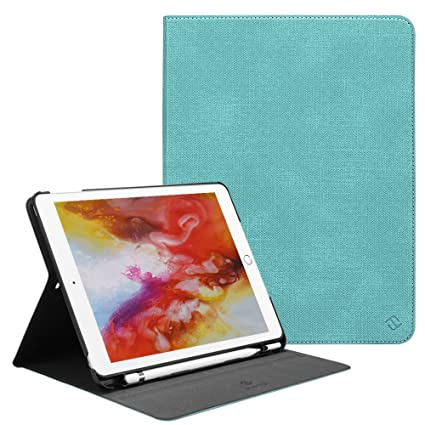 factory authentic 67620 fb429 Fintie iPad 9.7 2018 Case with Built-in Apple Pencil Holder - [Slim Shield]  Multi Angle Stand Viewing Protective Cover with Auto Wake/Sleep for Apple  ...