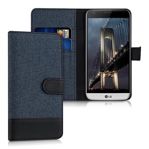 9 opinioni per kwmobile Custodia portafoglio per LG G5 / G5 SE- Cover in simil pelle a libro