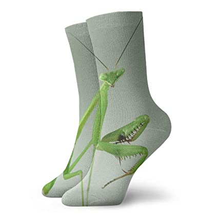 Athleisure Socks Green Wild Mantis Women & Men Socks Soccer Sock Sport Tube Stockings Length 11.8Inch Activewear