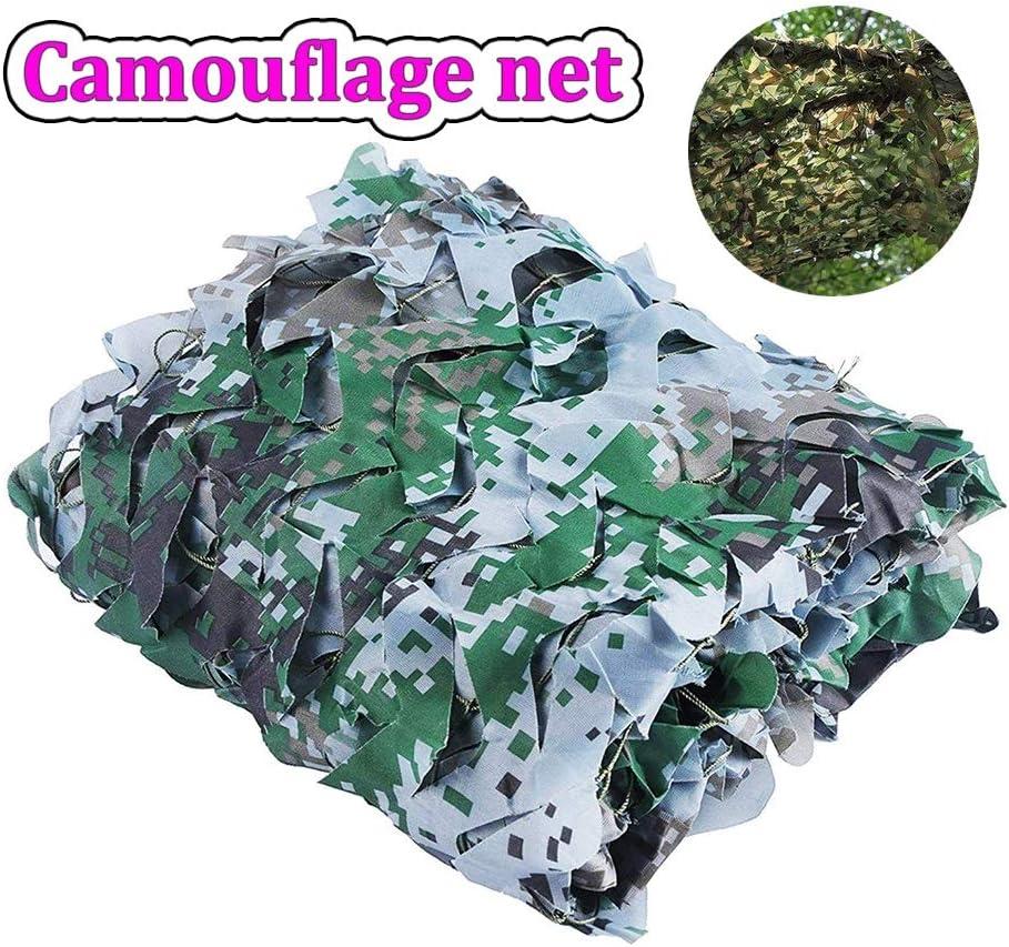 Red de Camuflaje a Granel Rollo 2m * 3m Camuflaje Militar Neto Nets Resistentes y Ligeros sin Rejilla Decoración Caza Ciegos Toma de imágenes for la sombrilla (Color : Green, Size :