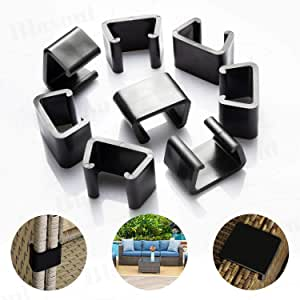 Outdoor Patio Wicker Furniture Clips Blasoul 8PCS Sectional Sofa Rattan Furniture Clips Chair Fasteners (Medium)