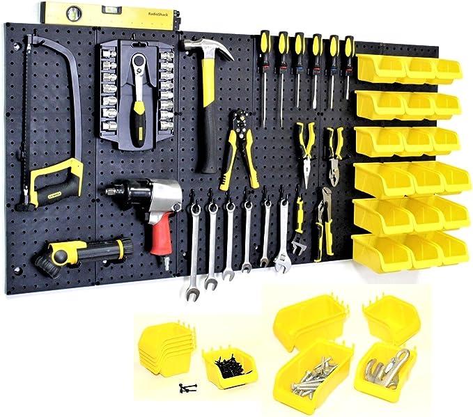 Details about  /20pcs Home Hanging Tool Shelving Manganese Steel Garage Workshop Pegboard Hooks