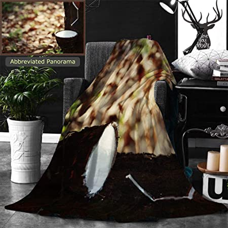 710ec154a6 Unique Custom Double Sides Print Flannel Blankets Rubber Tree And Bowl  Filled With Latex The Plantation