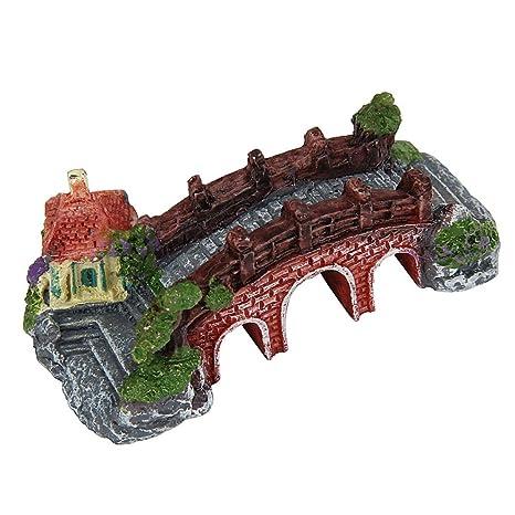 Kaiki Acuario Decoración, resina de dibujos animados castillo castillo de acuarios decoración acuario pecera Torre