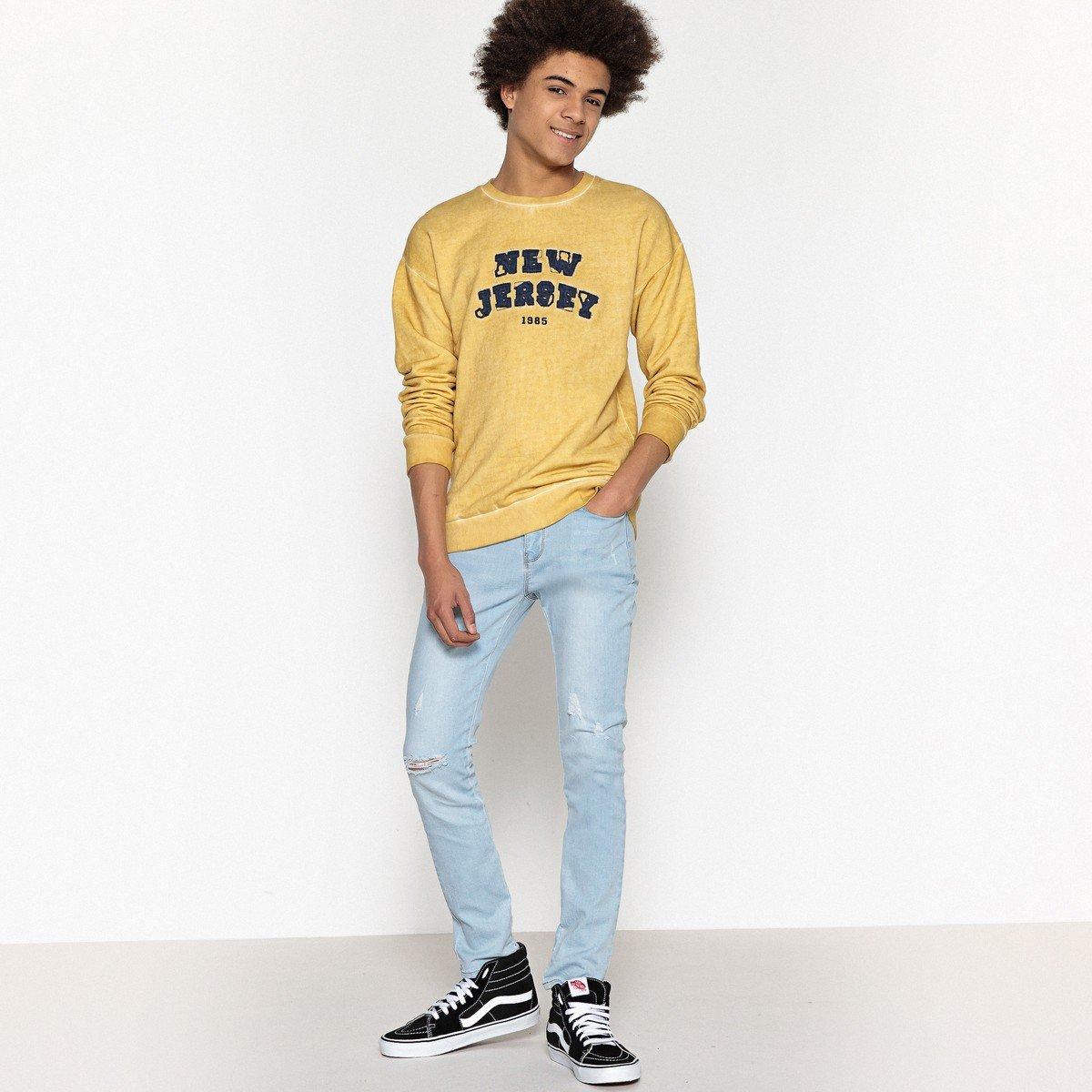 La Redoute Collections Big Boys Printed Oversized Sweatshirt 10-16 Years