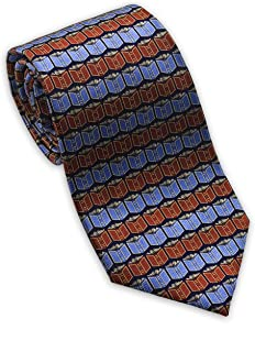 product image for Josh Bach Men's Books and Literature Silk Necktie Blue, Made in USA