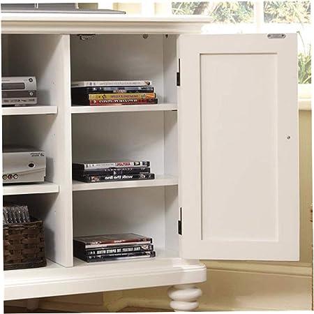 Wood & Style Mueble esquinero de Madera y Estilo para TV, Color Blanco, de Primera Calidad, para Oficina, hogar, Resistente, Fuerte: Amazon.es: Hogar