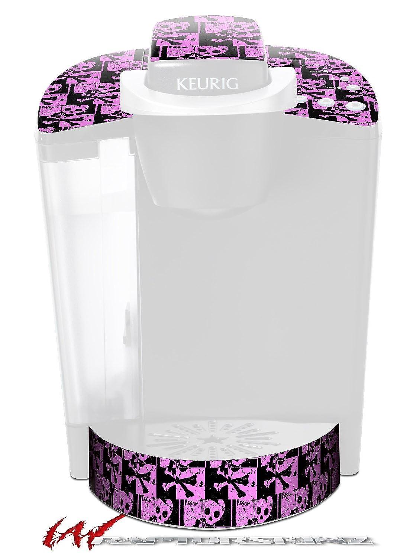 スカルチェッカーピンク – デカールスタイルビニールスキンFits Keurig k40 Eliteコーヒーメーカー( Keurig Not Included )   B017AKBCUE