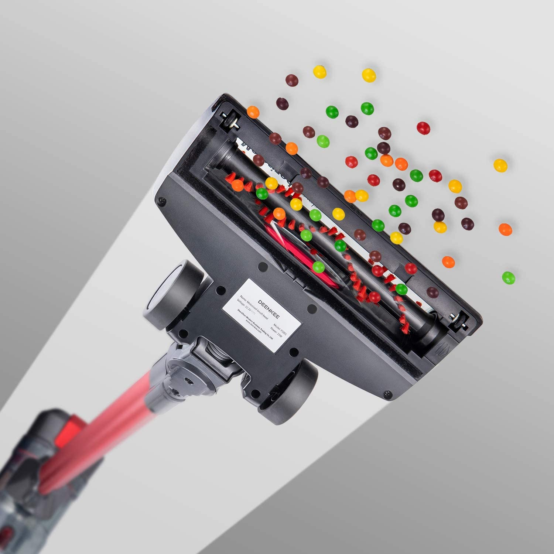 6 in 1 Handheld Stick Vacuum Cleaner 18KPa 250W Powerful Cleaning Lightweight Vacuum for Home Hard Floor Carpet Car Pet DEENKEE Cordless Vacuum DS100