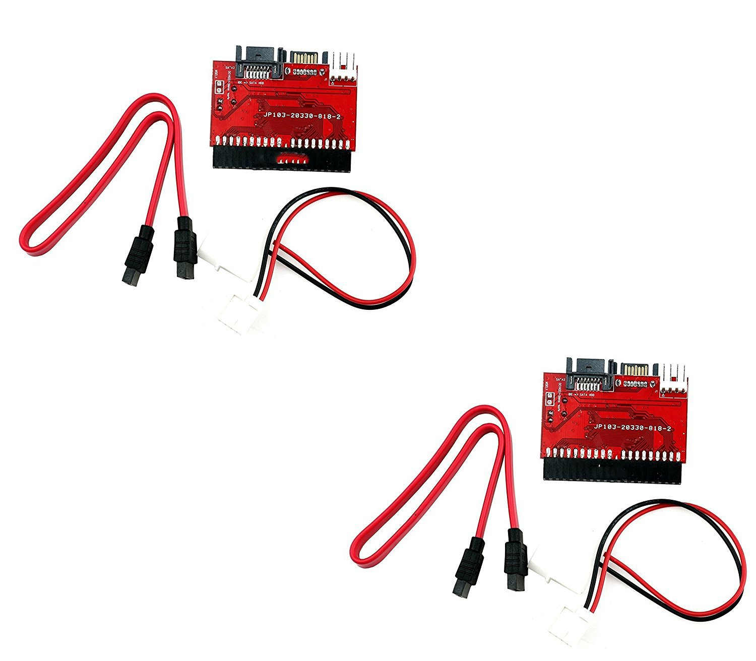(2 Pack) Bi-Directional IDE / SATA Converter - Connect IDE Drive to SATA Motherboard or SATA Drive to IDE Motherboard