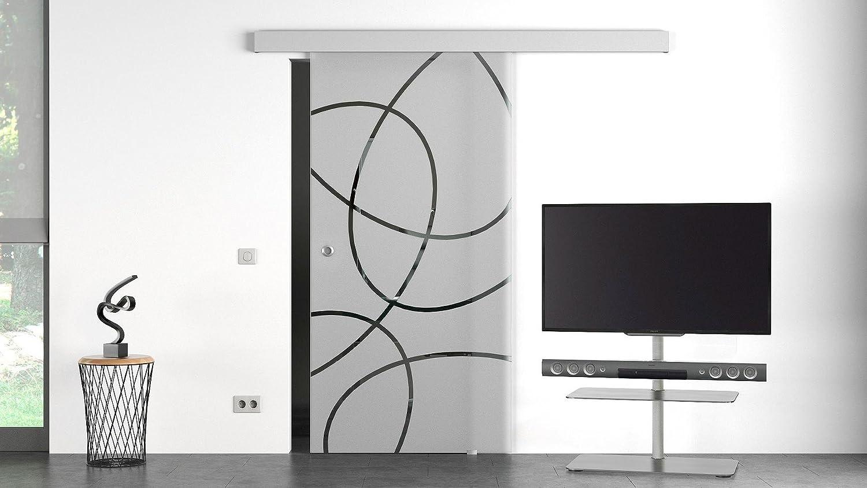 Dorma Puerta Corredera de Cristal Dorma elipse con Möbelgriff – 77 cm: Amazon.es: Bricolaje y herramientas