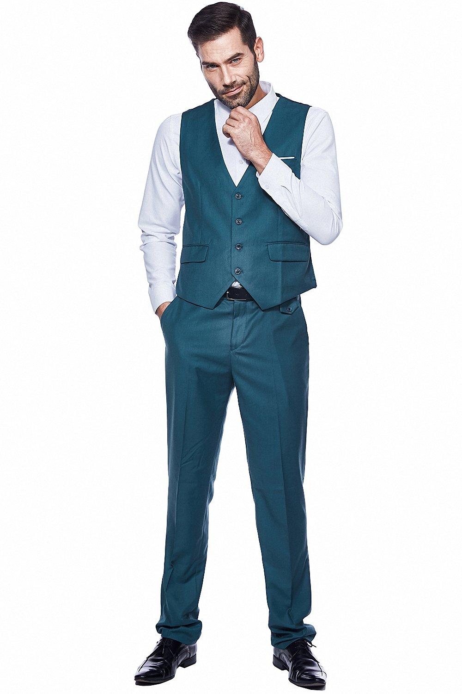 3979e1e30358 WEEN CHARM Mens Suits 2 Button Slim Fit 3 Pieces Suit Christmas Supplies