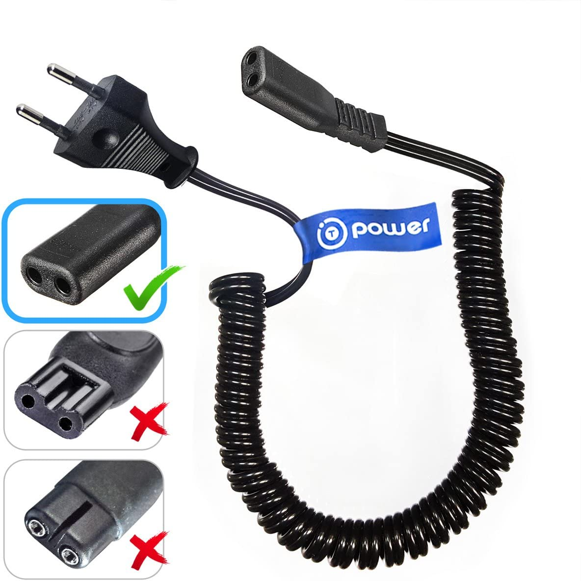T POWER - Cable universal para afeitadoras Philips Norelco ...