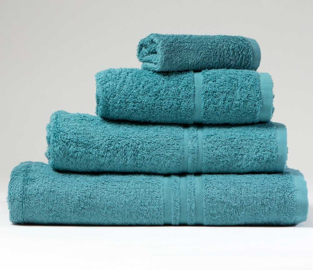 Blue Label 500gsm Plain Teal Face Cloth (SEE SIZE OPTIONS) BuyTowels.co.uk