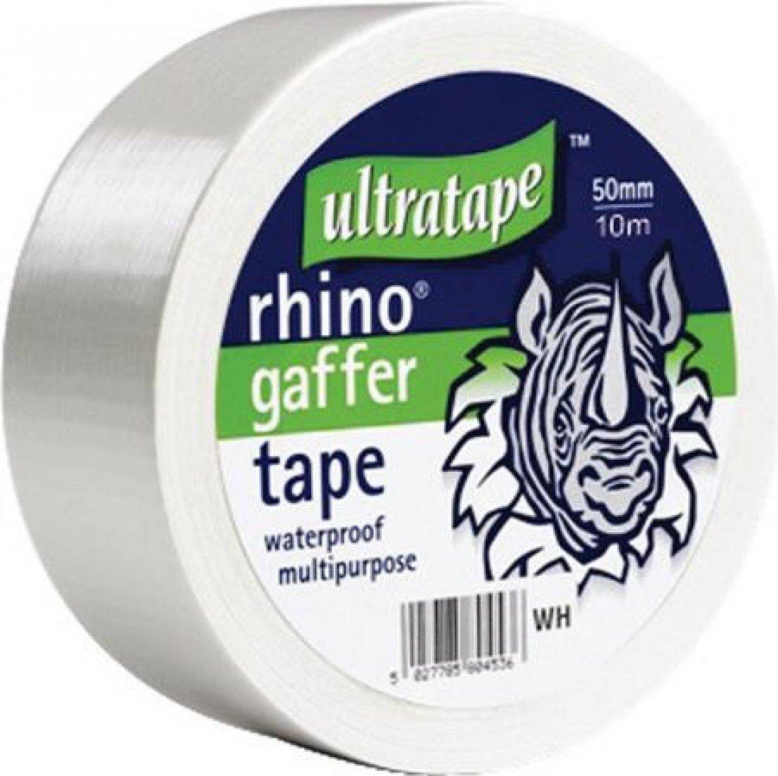 Cloth Gaffer Tape (Wasserdicht) 50mx50mm Weiß 1 Rolle / S Ultratape 00415050WHS1