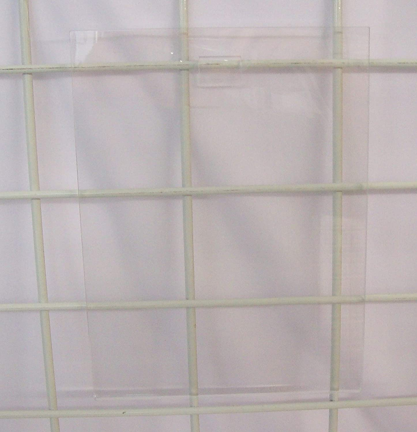 New Gridwall Clear Acrylic Sign Holder Vertical 11 Tall x 8.5 Wide