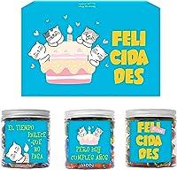 SMARTY BOX Caja Chuches Regalo Original Caramelos y Gominolas Cumpleaños Niños, Amiga, amigo, Pareja, Cesta Golosinas…