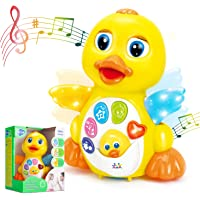 HOLA Dancing Walking Yellow Duck Baby Toy with Music and LED Light Up for Infants, Toddler Interactive Learning…