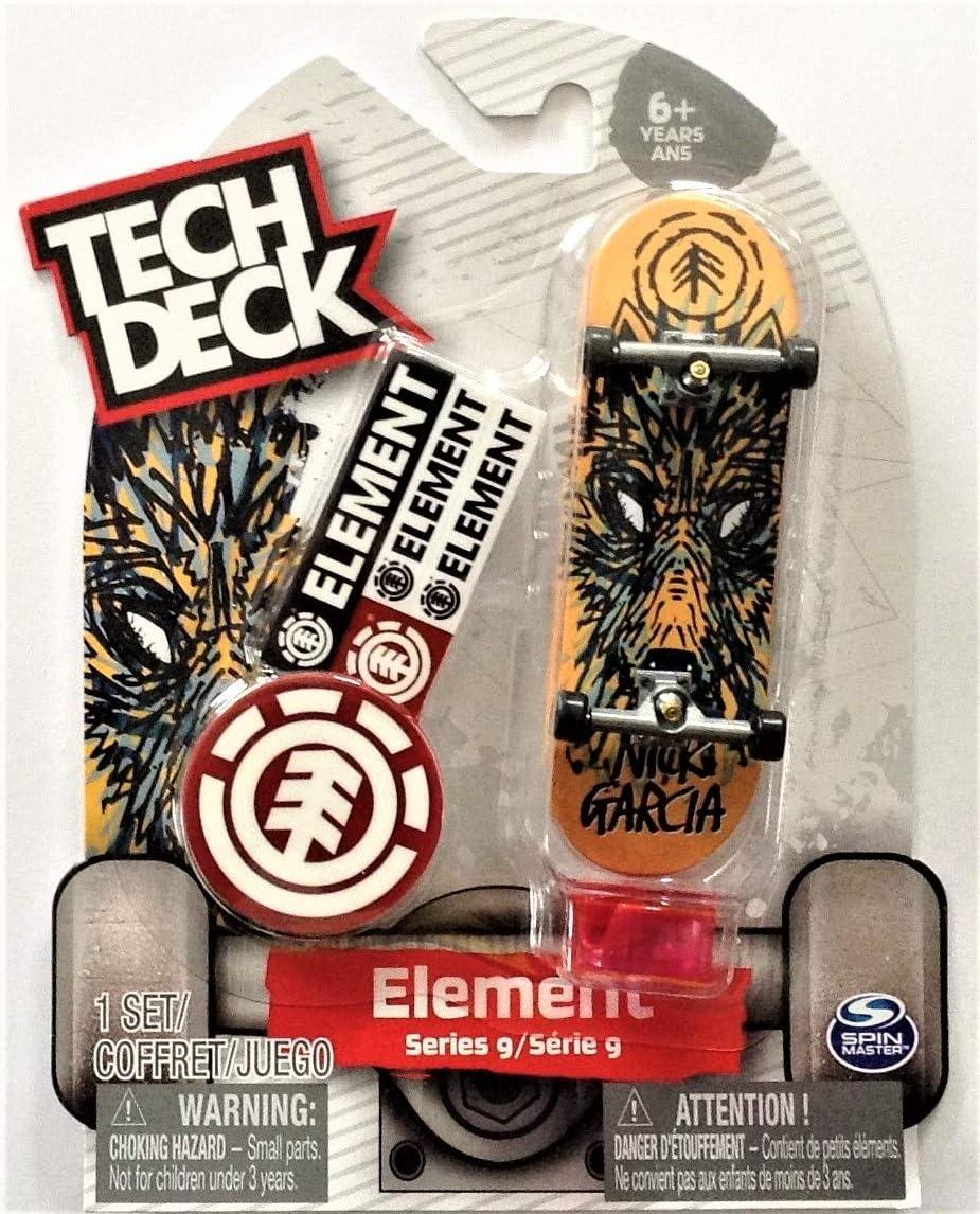 Amazon Com Tech Deck Element Series 9 Nick Garcia Wolf Fingerboard 20108354 Toys Games