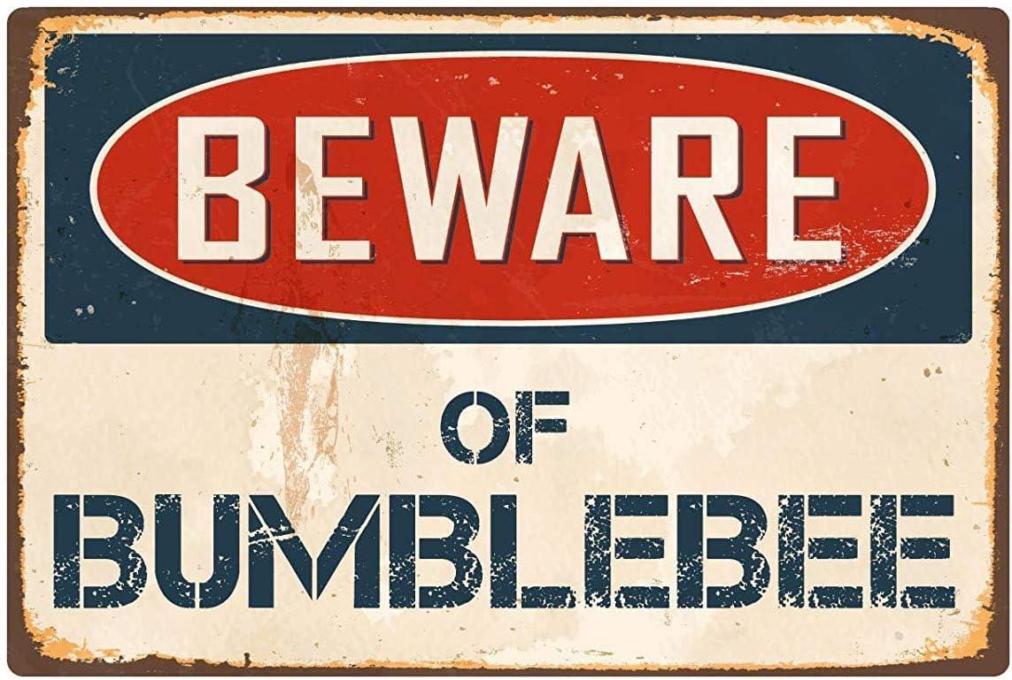 f/ür Zuhause Vintage qidushop Blechschild mit Aufschrift Beware of Bumblebee Retro 20 x 30 cm Geschenk lustige W/örter Deko