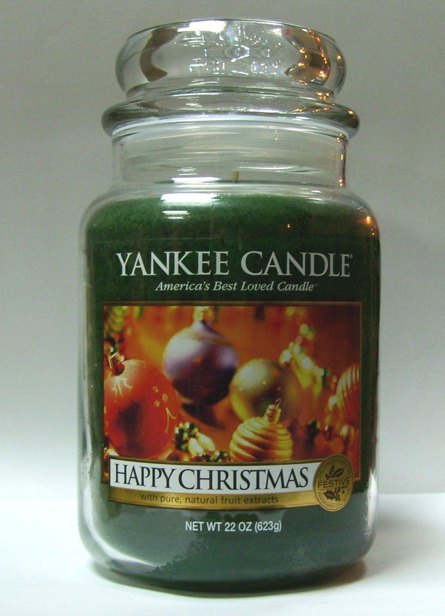 HappyクリスマスYankee Candle 22oz Large Jar B004M6MVQ4