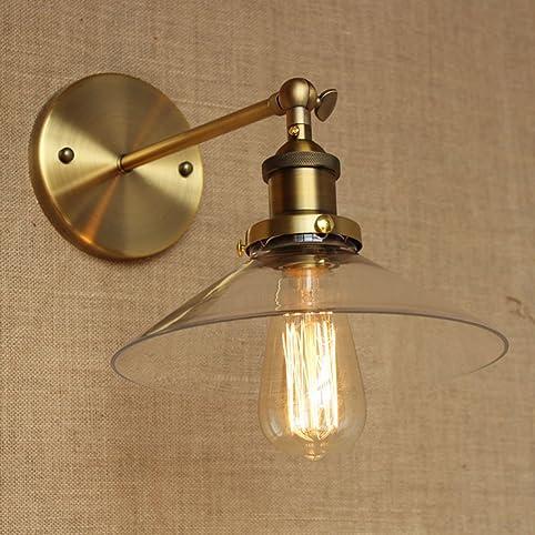 Bronze Simple Retro Iron Aisle Glass Transparent Light Cover ...