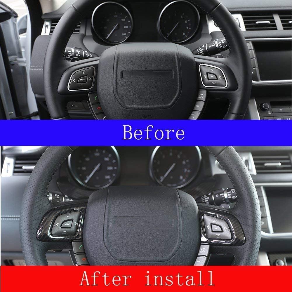 per RR Evoque 2012 2017 accessori auto 2 pezzi Telaio di controllo del volante in ABS