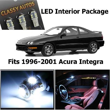 Amazoncom Classy Autos Acura Integra White Interior Led Package 6