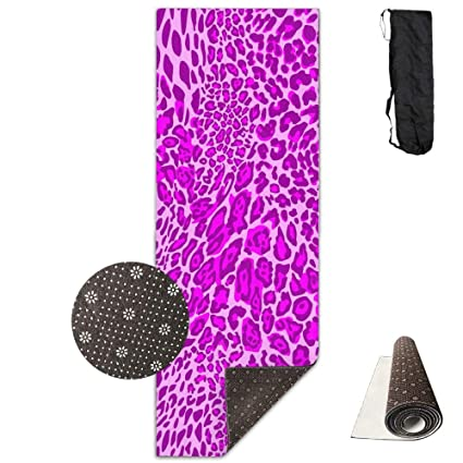 Amazon.com : SARA NELL Yoga Mat Cheetah Leopard Print Dark ...