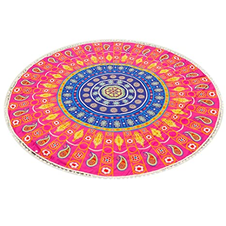 Amazon.com: Beach Towel - Indian Bohemian Mandalas Tapestry ...