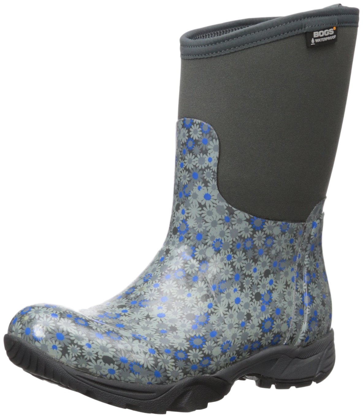 Bogs Women's Daisy Multiflower Work Boot, Dark Gray Multi, 9 M US by Bogs