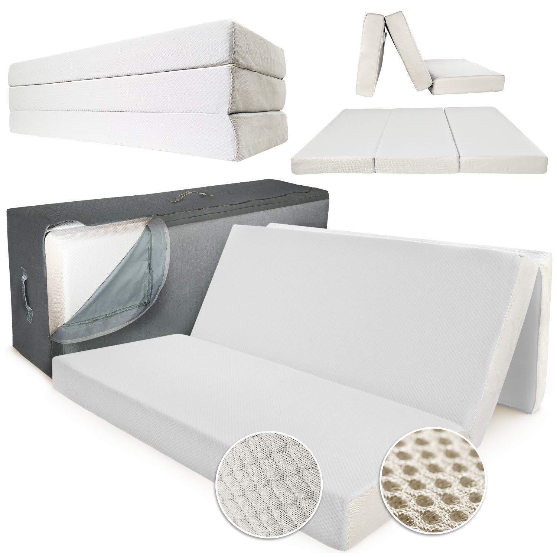 """Folding Mattress Queen - 6"""" Memory Foam Portable (Fold-Up ..."""