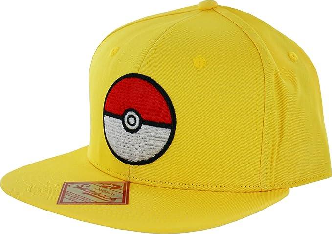 0456f46839b Amazon.com  Bioworld Pokemon Pokeball Trainer Yellow Snapback Hat ...