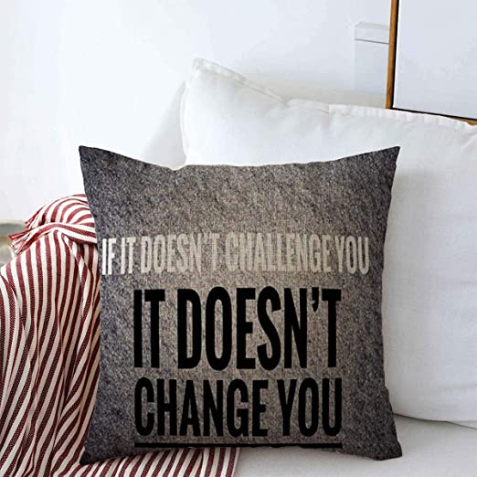 Amazon Com Decorative Linen Throw Pillow Covers Motivation Fitness Inspirational Motivational Quotes Sayings About Quote Life Nice Amazing Best Better Body 16x16 Inch Square Cushion Case For Home Decor Home Kitchen