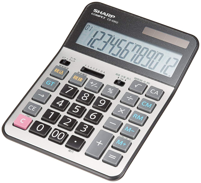 既に大学生知事シャープ 実務電卓 グリーン購入法適合モデル セミデスクトップタイプ 12桁 EL-S752KX