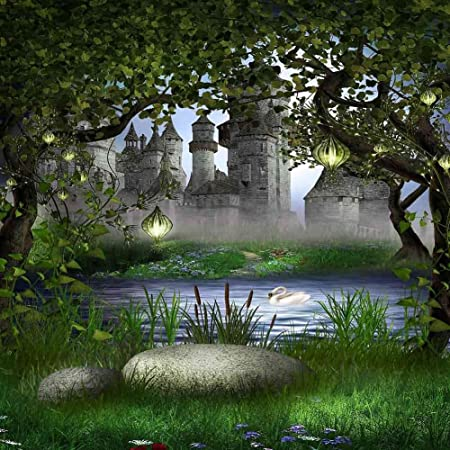 GladsBuy Stone Step to The Castle 6 x 6 Computer Printed Photography Backdrop Nature Theme Background ZJZ-464