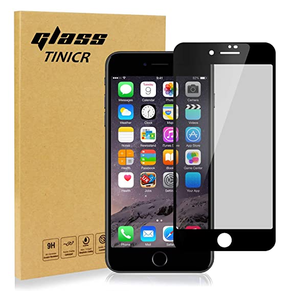 newest collection 54462 2d19f Privacy Screen Protector Compatible for iPhone 8 Plus 7 Plus – TINICR 3D  Curved Anti-Spy Anti-Peeping Full Cover Tempered Glass Screen Shield for ...