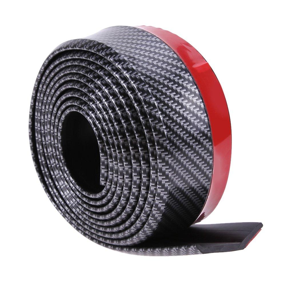 Karbonfaser Weiches Gummi schwarz Sto/ßstange Auto 6/cm Breite 2,5/m L/änge au/ßen Front Bumper Lip Kit//Auto bumper Schutzleiste
