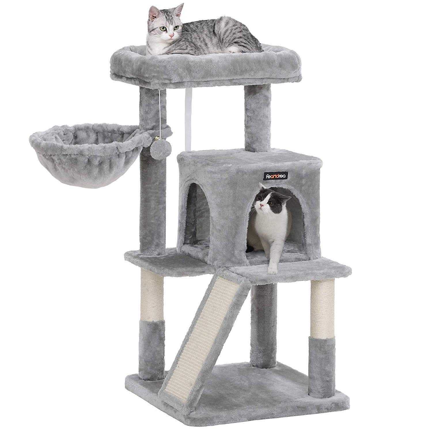 FEANDREA Cat Tree with Sisal-Covered Scratching Posts UPCT51W by FEANDREA