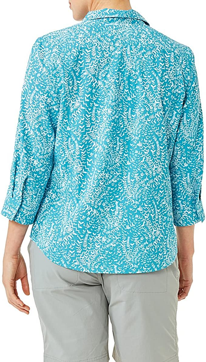 Royal Robbins Womens Expedition Chill Stretch Sky Print 3//4 Sleeve Tank Top