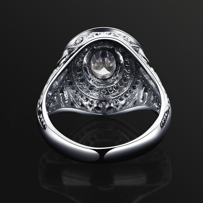 rose zircon silver ring silver RING Silver Rose zircon RING