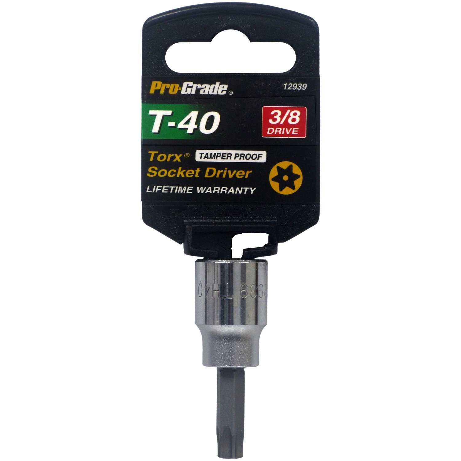 Pro-Grade 12954 3/8-Inch Drive with T55 Tamper Proof Torx Socket