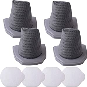 Replacement Filter Compatible with Eureka NES210 NES215A 3-in-1 Stick Vacuum Compare to Part N0101 N0102 with 4 Pack Pre-Filters and 4 Pack Post-Filters