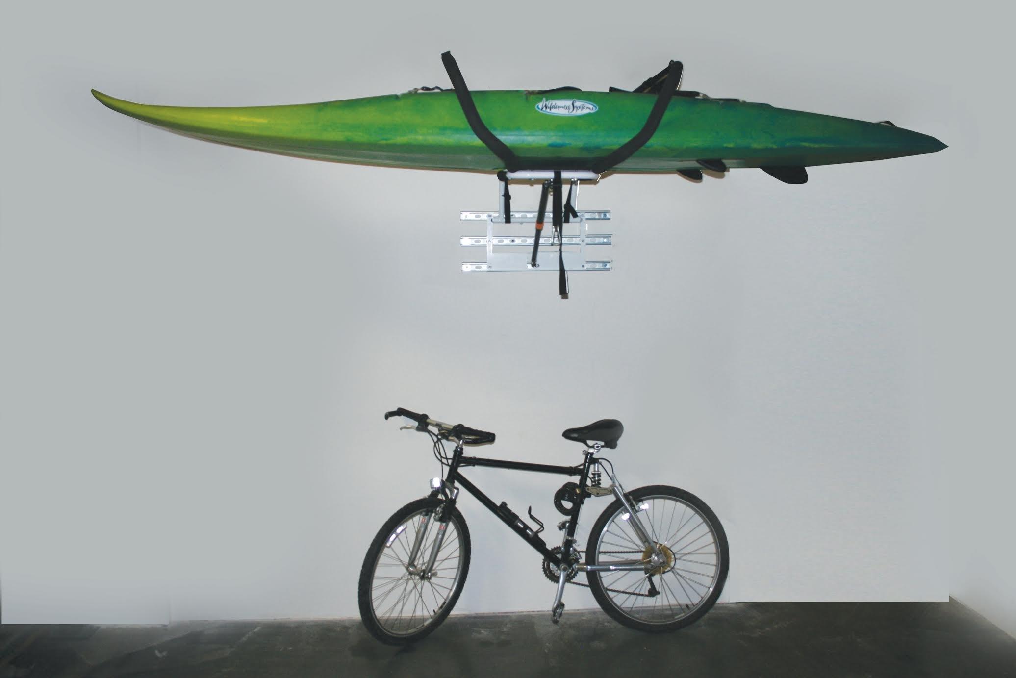 Kayak Storage Rack by Zero Gravity Racks - Garage Wall Mounted or Home Kayak Storage Rack - Patented Kayak Holder/Kayak Hanger System (powder coat finish)