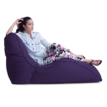 1ebbc90be7 Ambient Lounge Avatar Lounger Designer Bean Bag with Filling Aubergine  Dream Interior Fabric  Amazon.co.uk  Kitchen   Home