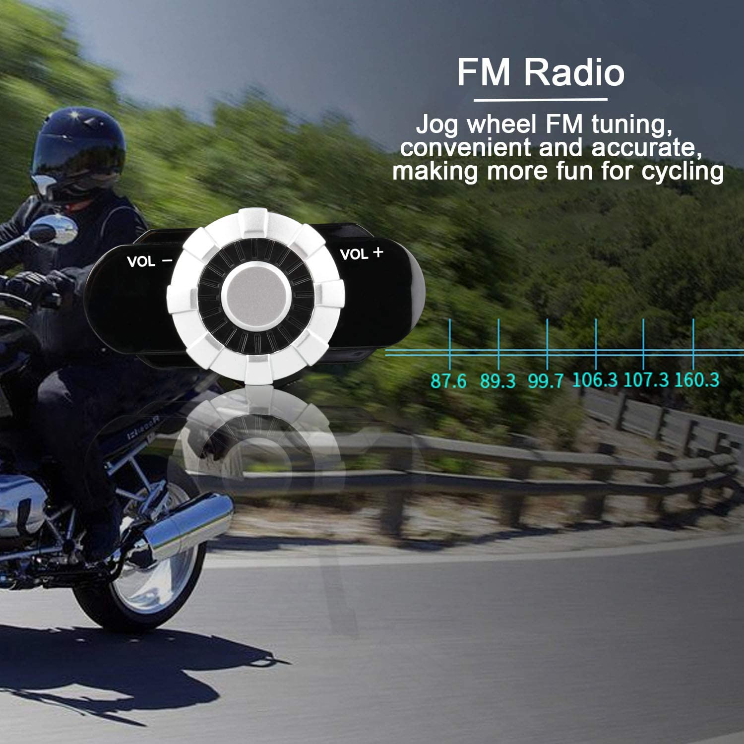 FreedConn BM2-S Flip Up Modular Bluetooth Motorcycle Helmet Voice Dial//Hands-Free Call// 500M// 2-3 Riders// MP3// FM//DOT Motorcycle Helmet with Bluetooth 3.0 Motorcycle Bluetooth Helmet