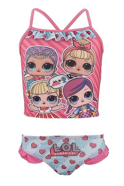 f7e5d912c5e0 Costume Bikini 2 Pezzi con Volant Mare Piscina - Full Print - Bambina -  novità Prodotto Originale con Licenza Ufficiale 18-XXX: Amazon.it:  Abbigliamento