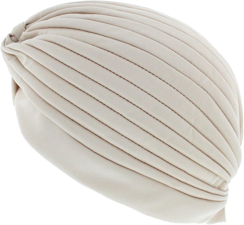 Vintage-Stil Zacs Alter Ego/® ideal bei Haarausfall oder als Mode-Accessoire Turban mit Falten-Optik