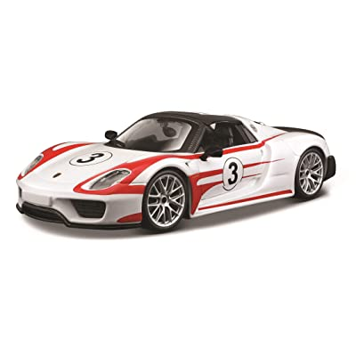 Bburago Race Porsche 918 Spyder Weissach Package Diecast Vehicle (Colors May Vary/1:24 Scale): Bburago: Toys & Games
